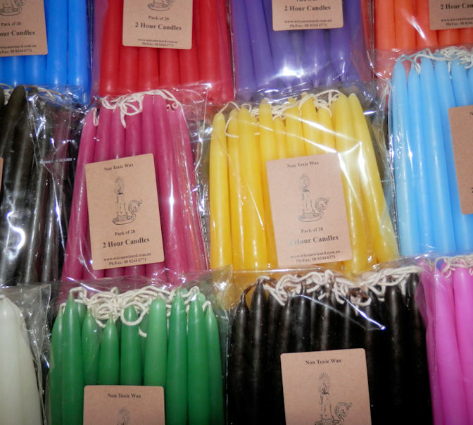 Blue Taper Candles - Pack of 20