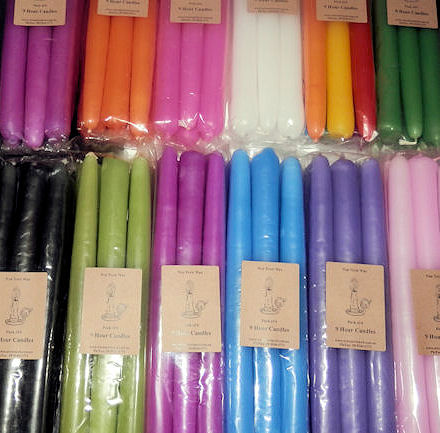Black Taper Candles - Pack of 6