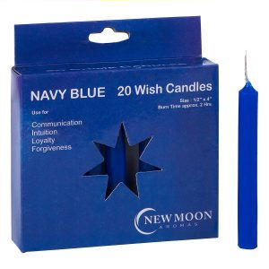 Navy Blue Wish Candle