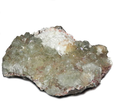 Green Apophyllite Cluster with Okenite
