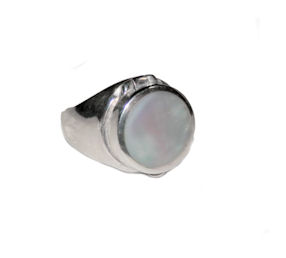 Mother of Pearl Poison Ring