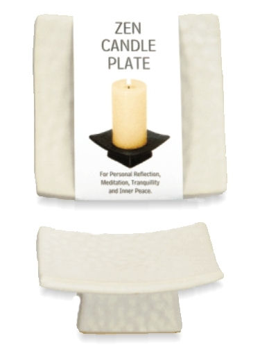White Candle Plate - Small